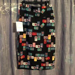 Cassette pencil skirt